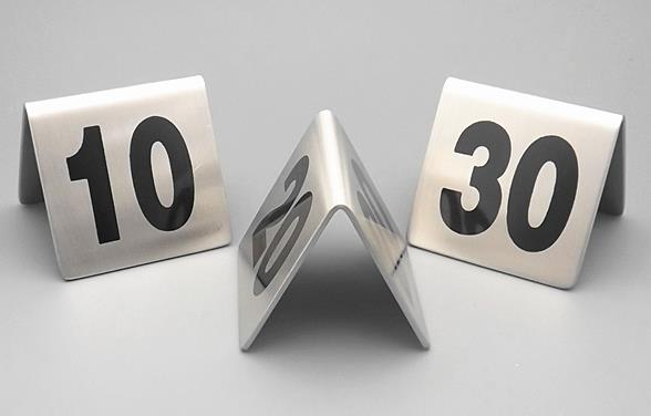 PCSLOT Number From Stainless Steel Table Number Table - Stainless steel table numbers