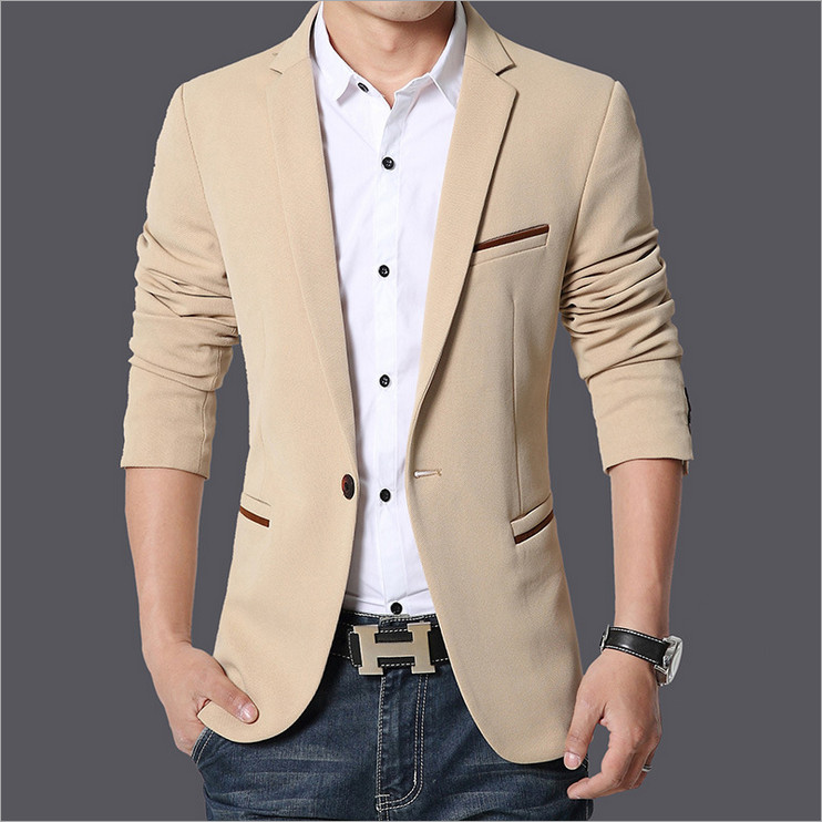 2018 fall clothing new arrival mens suits fertilizer to increase code small suit mens business casual solid color blazers