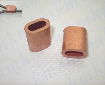 100PCS single hole oval type 5MM wire rope clip or pipe copper brass ferrule sleeves connector fittings
