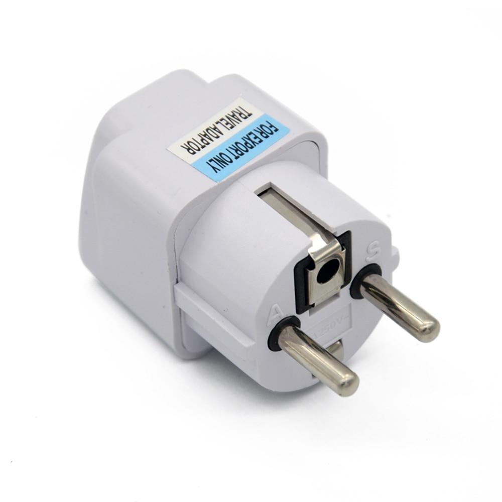 Universal UK US AU to EU AC Power Socket Plug Travel Charger Adapter ...