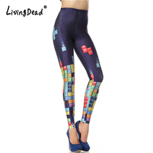 Living Dead New Custom Legging 3d Digital High Waist Elastic Slim Legins Fashion Tetris Printed Leggins Women Leggings Pants