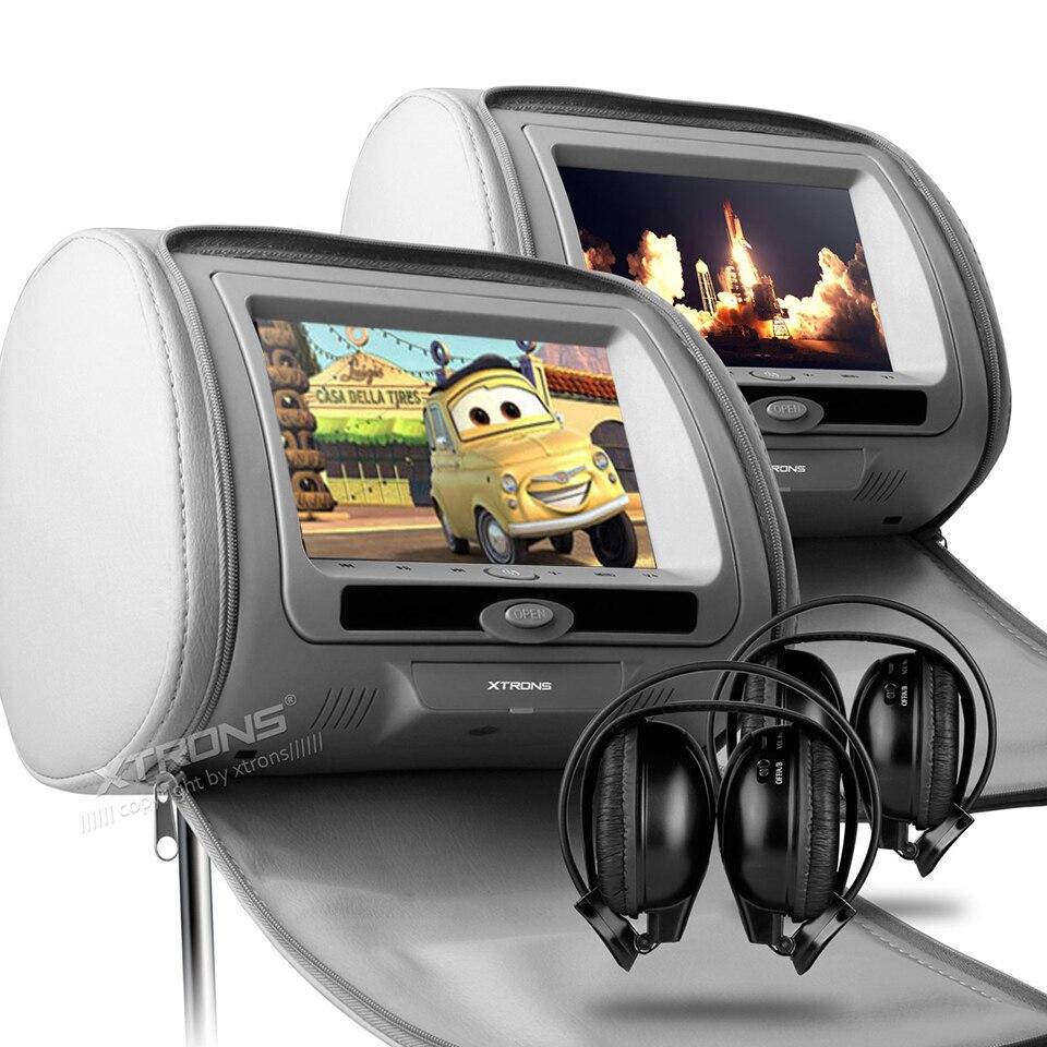compre 2x7 dvd do carro para o monitor de encosto de cabe a banco traseiro. Black Bedroom Furniture Sets. Home Design Ideas