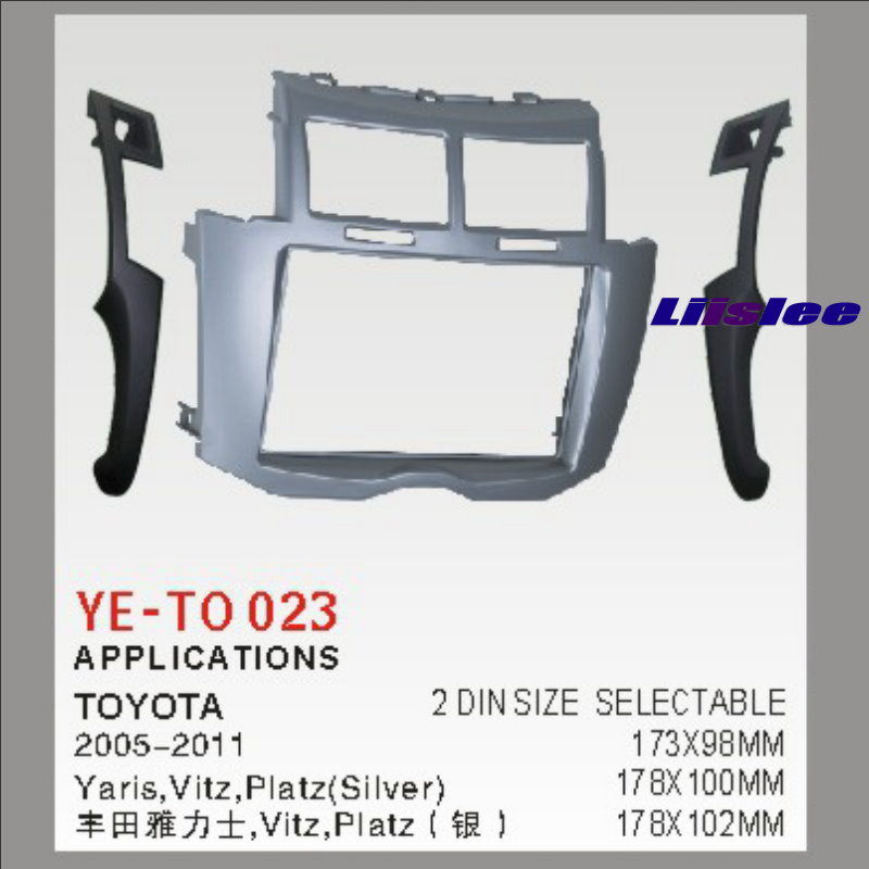 2 DIN Car Refitting Frame Panel For Toyota Yaris,Vitz, Radio Stereo CD DVD Player NAVI Navigation / Dashboard ABS Fascia Kits 6 2 inch 2 din in dash car dvd player gps navi system for old toyota universal vios rav4 collora sequoia yaris hiace highlander
