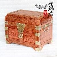 Brazil Huali wood crafts cosmetic mirror box jewelry box wedding gifts housewarming Home Furnishing ornaments