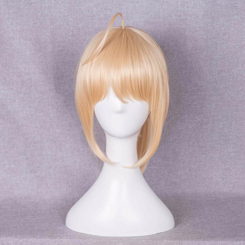 Ponytail Milk Blonde 40cm Lolita Long Wavy Women Cosplay ...