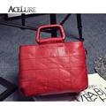 Women Shoulder Bags Casual Tote Ladies Messenger Bags Bolsa Mujer Female Stylish Top-Handle Bags Red Black Retro Handtassen