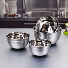Thicken Stainless Steel Silicone Bottom Prevent Splash Egg Beating Pan/Mixing Bowl