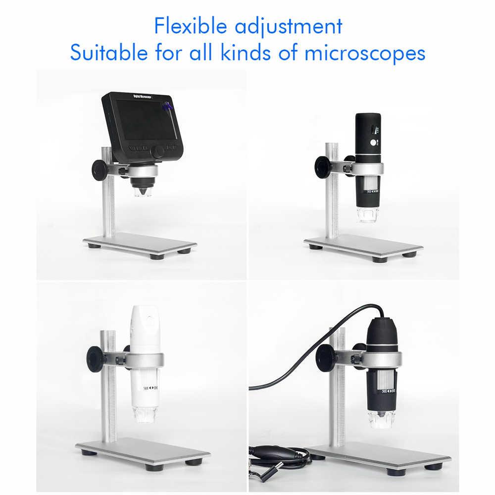 Штатив для микроскопа высокого качества из алюминиевого сплава части микроскопа аксессуары с нескользящей основой для большинства микроскопов металлический кронштейн
