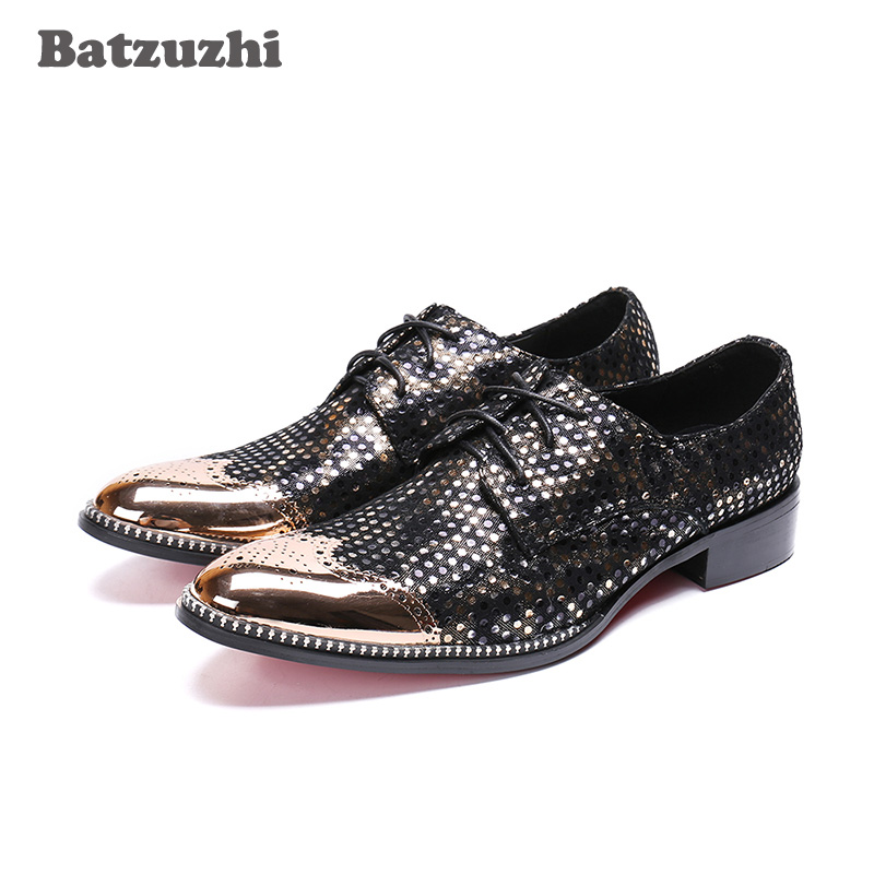 Batzuzhi Luxury Men Shoes Lace-up Designers Dress Shoes Men zapatos de hombre Black Party, Business Leather Shoes for Men,US12Batzuzhi Luxury Men Shoes Lace-up Designers Dress Shoes Men zapatos de hombre Black Party, Business Leather Shoes for Men,US12