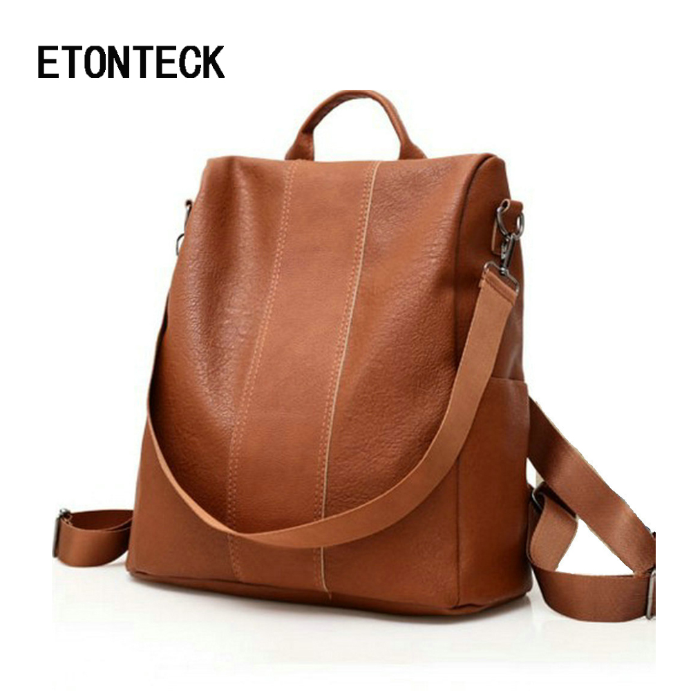 ETONTECK Retro Women Leather Backpack College Preppy School Bag for Student Laptop Girls Ladies Daily Back Pack Shop Trip TravelETONTECK Retro Women Leather Backpack College Preppy School Bag for Student Laptop Girls Ladies Daily Back Pack Shop Trip Travel