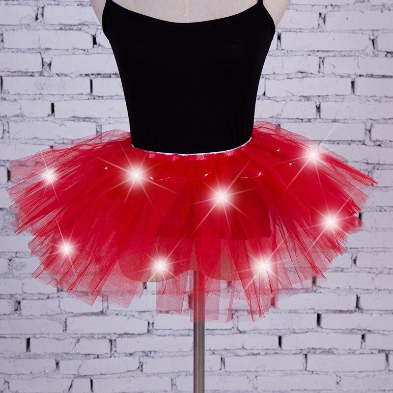 Half Slips Intelligent Adult Dance Performance Skirt Colorful Led Tutu Skirts Up Neon Fancy Rainbow Fancy Costume Light Mini Tutu Skirt Online Discount