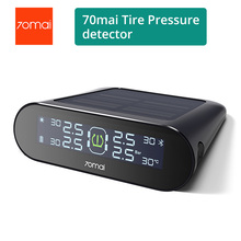 70mai TPMS Tire Pressure Tester Monitor Solar Power Dual USB Charging 4 Built in Sensors System Alarm with Car Gauge Sens
