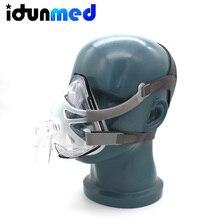 BMC CPAP полная маска для лица без лба с регулируемым головным убором принадлежности для апноэ сна анти храп дыхательные аксессуары