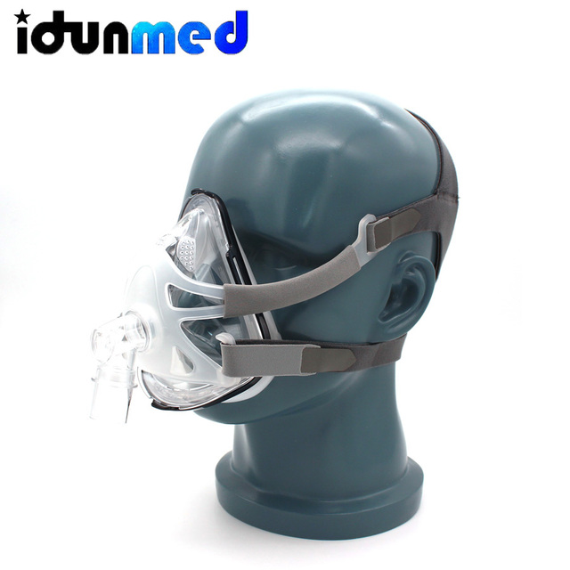 BMC CPAP Full Face Mask Without Forehead With Adjustable Headgear Supplies For Sleep Apnea Anti Snoring Breathing Accessories