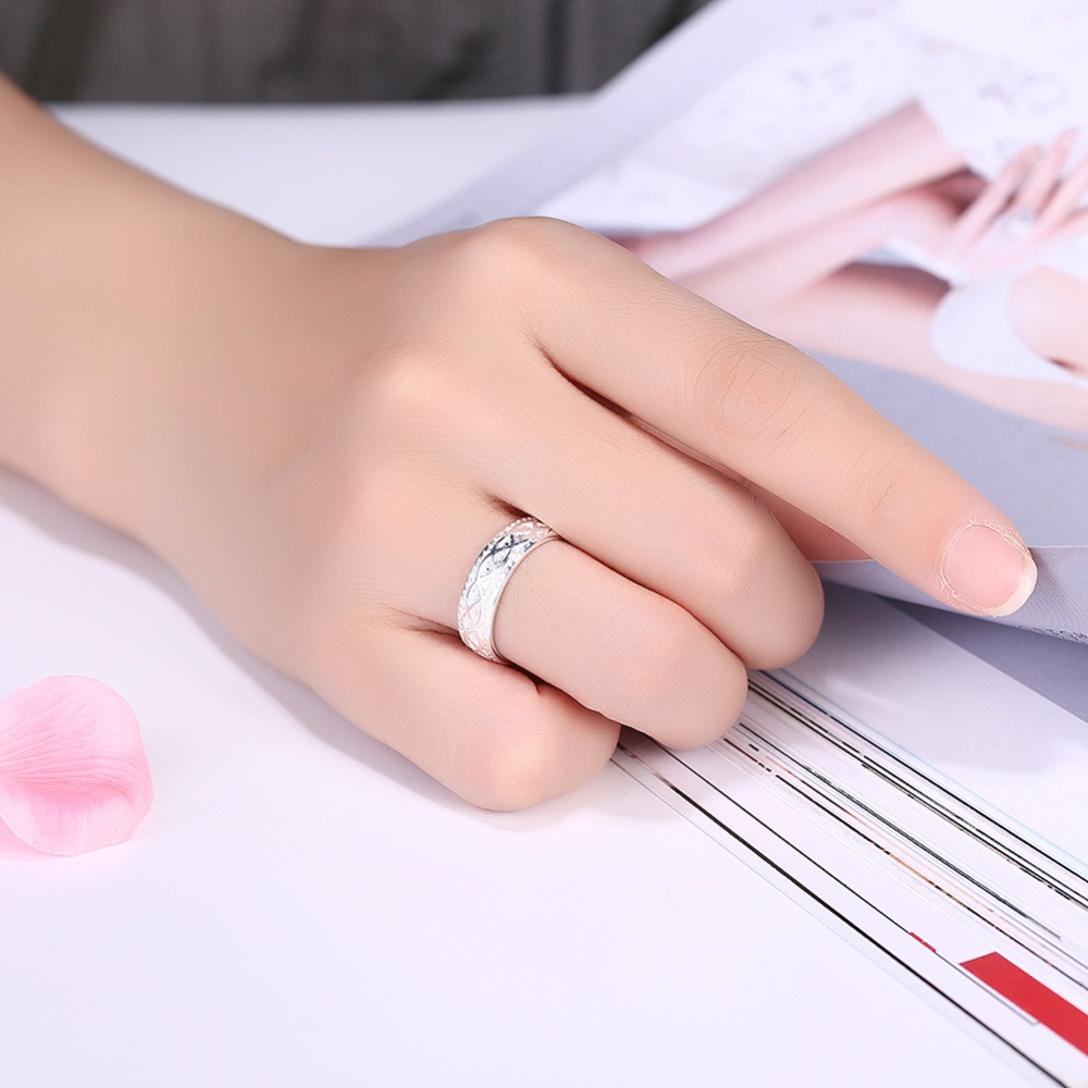 Open size any size option finger wear 925 silver Rings nice gift box ...