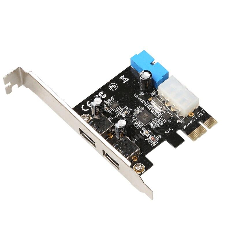 DIEWU 2 Port USB 3.0 PCIE PCI Express řídicí karta adaptér + 20pin 4pin převodník velkoobchod