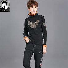 88c11f7ac9a9f Design Harajuku Women T-shirt Sexy Long Sleeve Turtleneck Velvet Tops   Tees  2xl Punk Basic Stretch Butterfly Tshirt Female Top