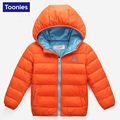 2016 Children Down Jacket Winter Boy Girl Brand New ZIpper Short Baby Coat Casual Warm Turn-down Collar outerwear baby explosion