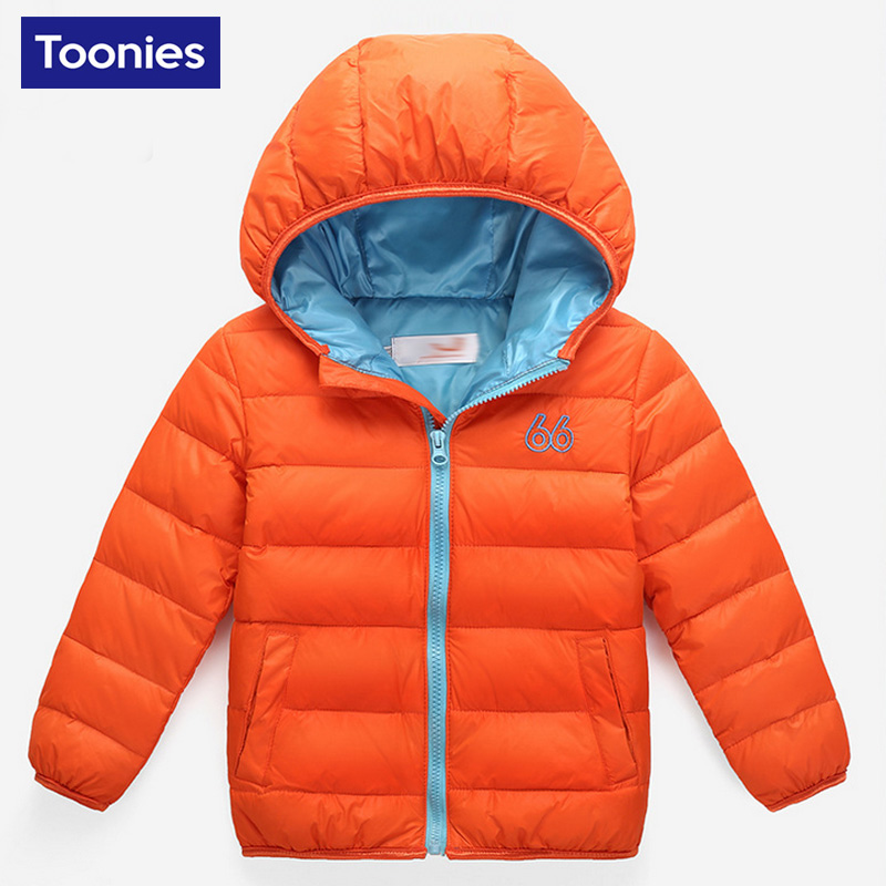 2017 Children Down Jacket Winter Boy Girl Brand New ZIpper Short Baby Coat Casual Warm Turn