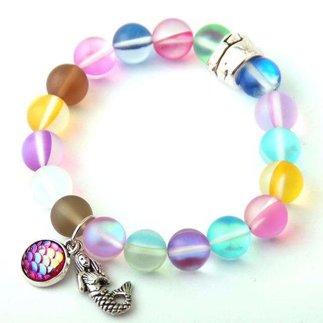 Free Shipping New Fashion Armband Made Beautiful Shiny Crystal Stone Fish Scales Mermaid Bracelet Bangle