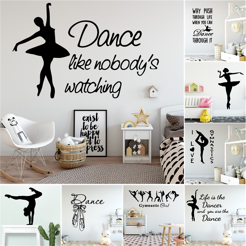 Classic Dancing Vinyl Wall Art Decal Dancer Wall Stickers For Girls Rooms Bedroom Decor Dance Studio Decoration Wall Stickers Aliexpress
