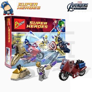 Marvel Captain America Steve Rogers VS. Speed Motorcycle Super Heroes Avengers Action Figures minifig Blocks Bricks Kids Toys ヒステリック ミニ 高 画質