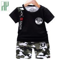 Kids Clothes Summer Casual Camouflage Newborn Baby Boy Toddler Clothes Set T Shirt Tops Pants 2pcs/sets Cotton Children Outfits цены