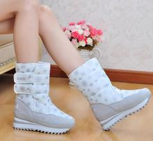 Ladies Winter Snow Boots,Tall Classic Feather Women Boots,Discount 2016 Fashionable Nylon+Plush Boot Free Shipping