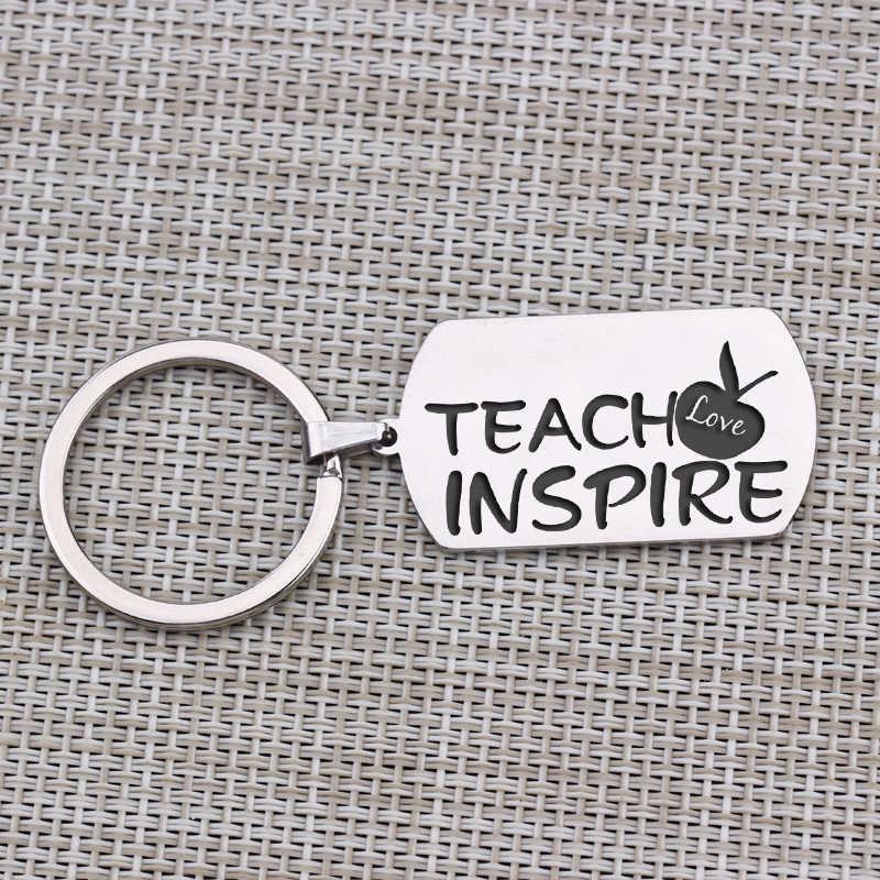 1 шт., брелок для ключей, Подарочный учителю на день рождения, День Святого Валентина, мужской женский брелок, любовь, обучение