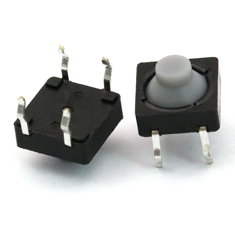 10pcs/lot 8 5mm Pin Silent Button Micro Switch Four-foot Silicone Touch Switch 8