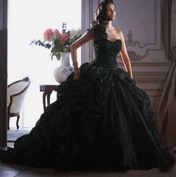 Black masquerade dress