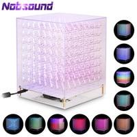 Nobsound RGB LED Cube 8x8x8 3D Full Color DIY KIT/ Finished Music Spectrum