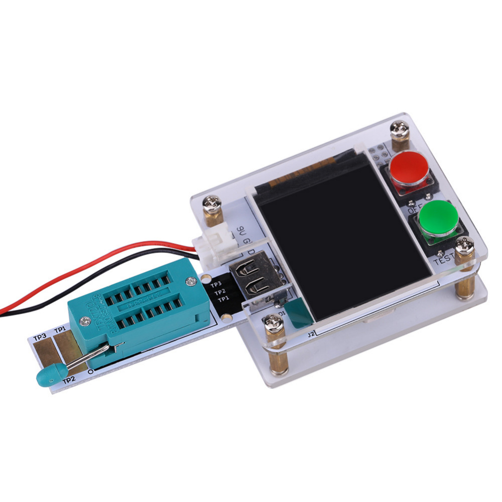 Diy Kit 18 Lcd Display Screen Transistor Tester Resistance Diode Electronic Thermometer Of Temperature Sensor Other Capacitance Esr Meter Atmega328 With Acrylic Case In Instrument Parts Accessories From