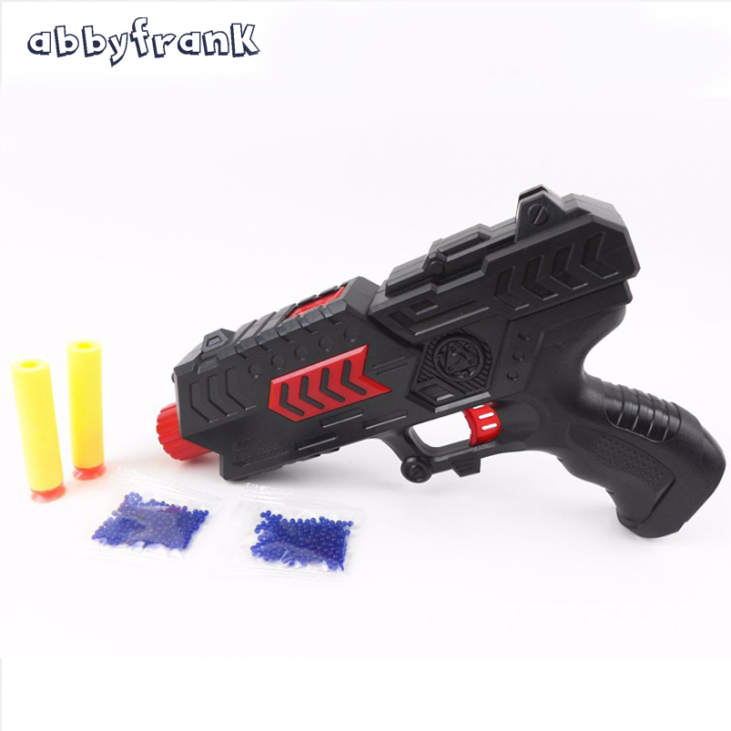 Abbyfrank Soft Bullet Plastic Toy Gun Paintball Pistol CS Battle Game Water Crystal Gun Air Gun Arme Arma KidsToys For Children