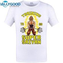 Trainings To Go Super Saiyan T Shirt Men Goku Dragon Ball Z Super Gymer Vegeta Frieza Tops Tee Shirts Casual Cotton Print Tshirt