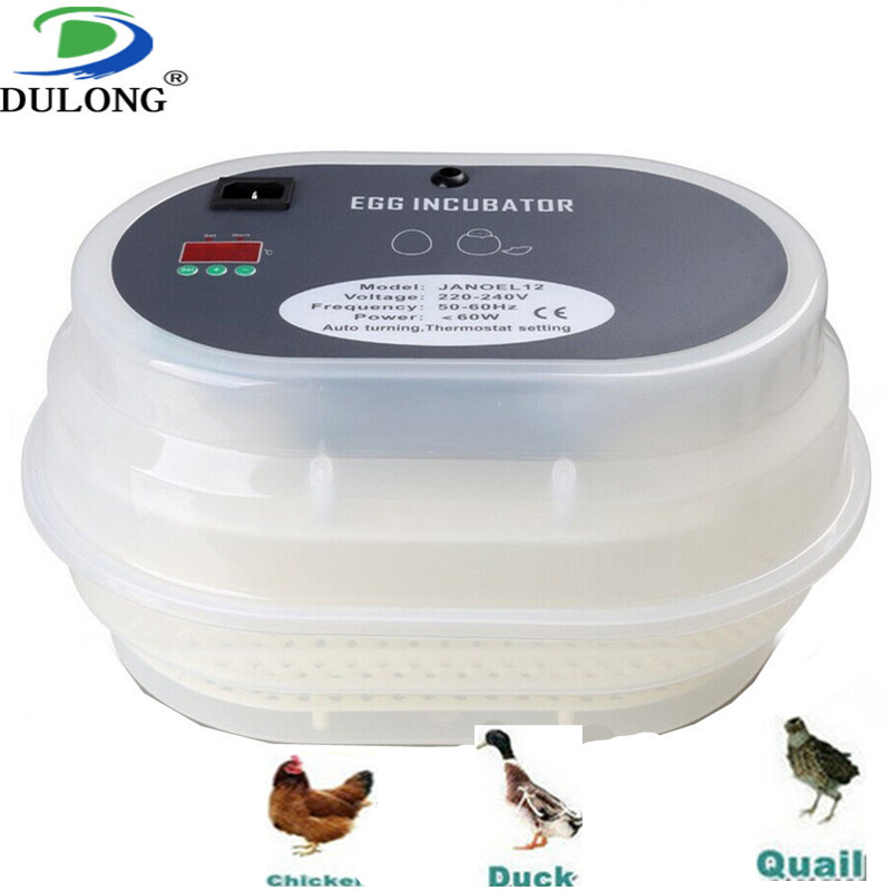 2018 hot sale free shipping portable egg incubator/egg incubator chicken/incubator egg turner/plastic incubator egg tray top sale household farm egg incubators 24 egg incubators for led display turner for sale