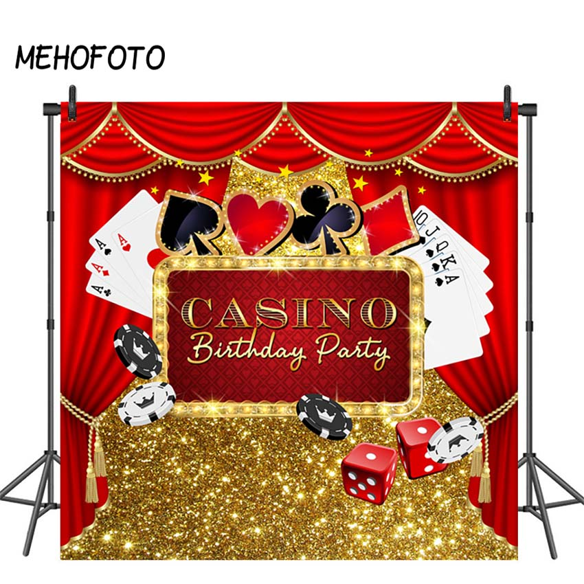 MEHOFOTO Casino Party Background Poker Las Vegas Party Birthday Backdrop Casino Night Photography Background Decorations Props(China)