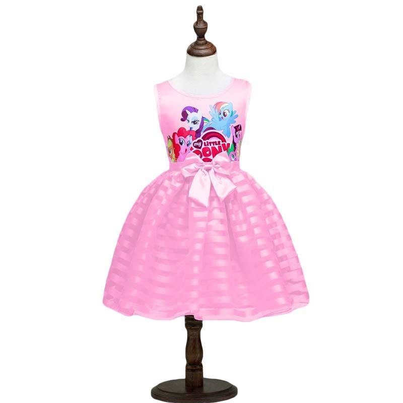 Новинка 2020 года, летняя одежда для девочек, платье без рукавов с рисунком «Маленький Пони» для девочек, roupas infantis menina ropa de ninas, vestido infantil