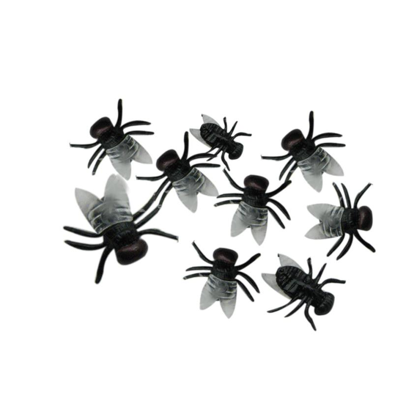 20PCS Halloween Plastic Flys Joking Toys Decoration Realistic Toy Party Decor 2O95 ...