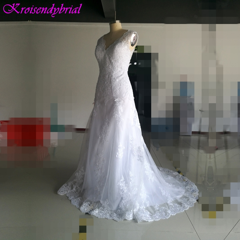 QFS018 robe de mariage Beautiful Sheath Mermaid Wedding Dresses Factory Real Photos Bridal Gowns 2019 A