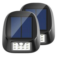 Diseño único luz solar 10 lámpara LED sensor de movimiento Seguridad jardín tres inteligente patio al aire libre modo Iluminación LED lampion