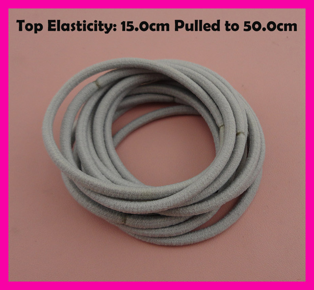 113PCS 13mm Top Elasticity Silver Gray Seamless Elastic Ponytail ...