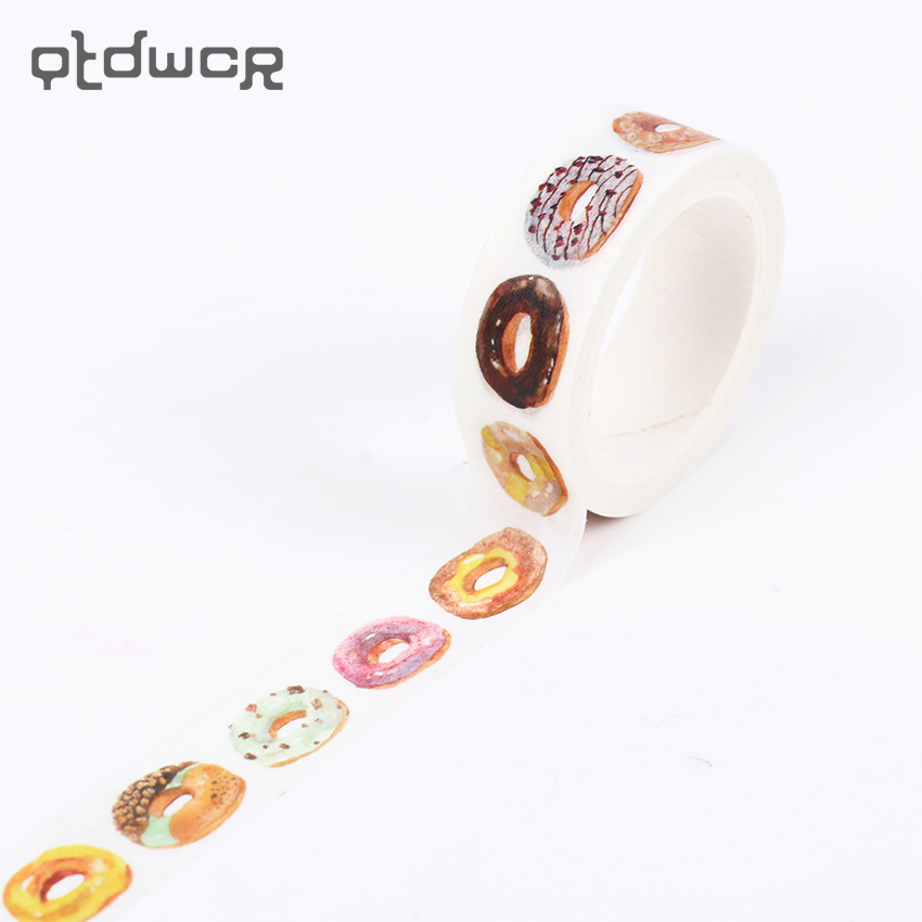 2PCS The Delicious Donut Decorative Washi Tape DIY Scrapbooking Masking Tape School Office Supply Escolar Papelaria qnt протеин qnt delicious whey protein крем печенье 2 2 кг