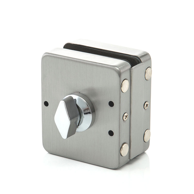 10mm-12mm Glass Door Single//Double Latch Lock Stainless Steel Brushed Finish