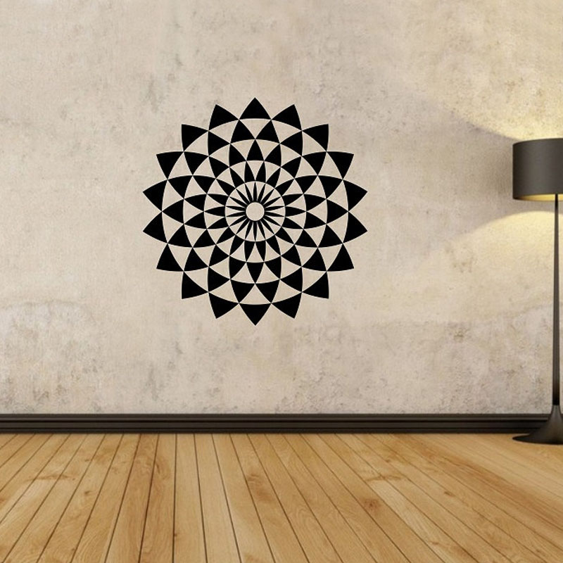 Geometric Wall Decals Creative Vinyl Adhesive Stickers Home Decor Living  Room Wall Stickers(China (