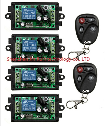 Nueva DC12V 10A 1CH Interruptor de Control Remoto Inalámbrico Sistema teleswitch