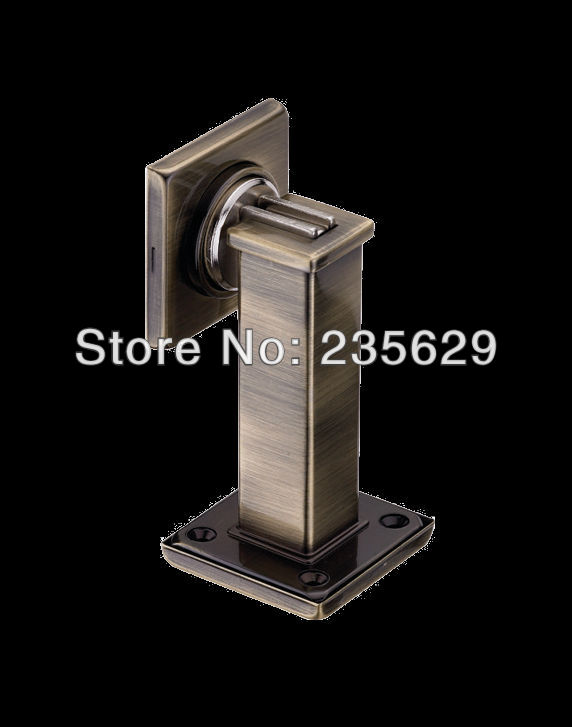 Free Shipping, Zinc Alloy Door Stopper, suitable for interior doors, with Antique Brass Finished free shipping wall mounted brass door stopper suitable for interior doors door holders for sale high suction 356g