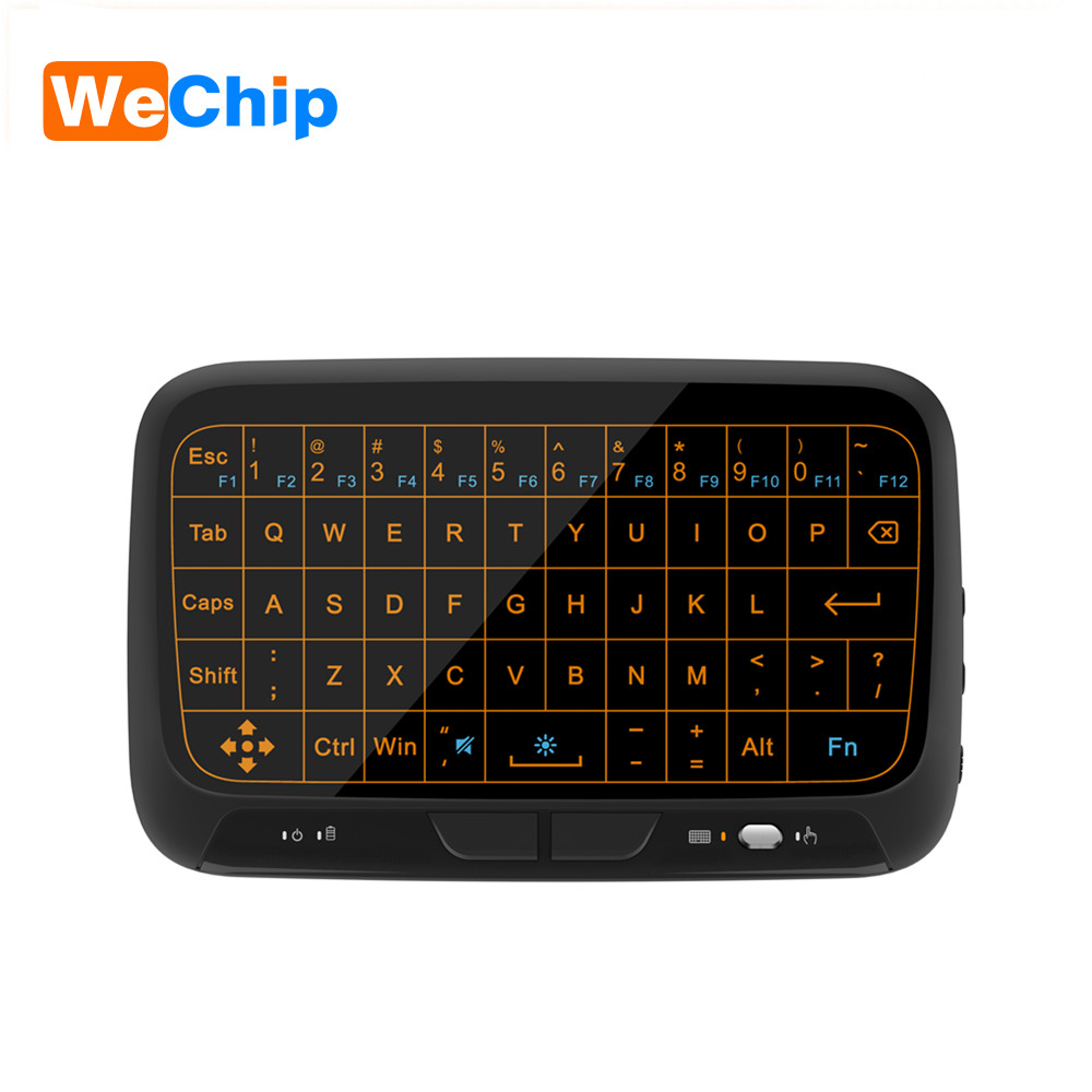 WeChip New H18 Wireless Air Mouse Full Touchpad mini keyboard 2.4GHz Gaming Touch pad For Smart TV PS3 TV Box PC Android Windows