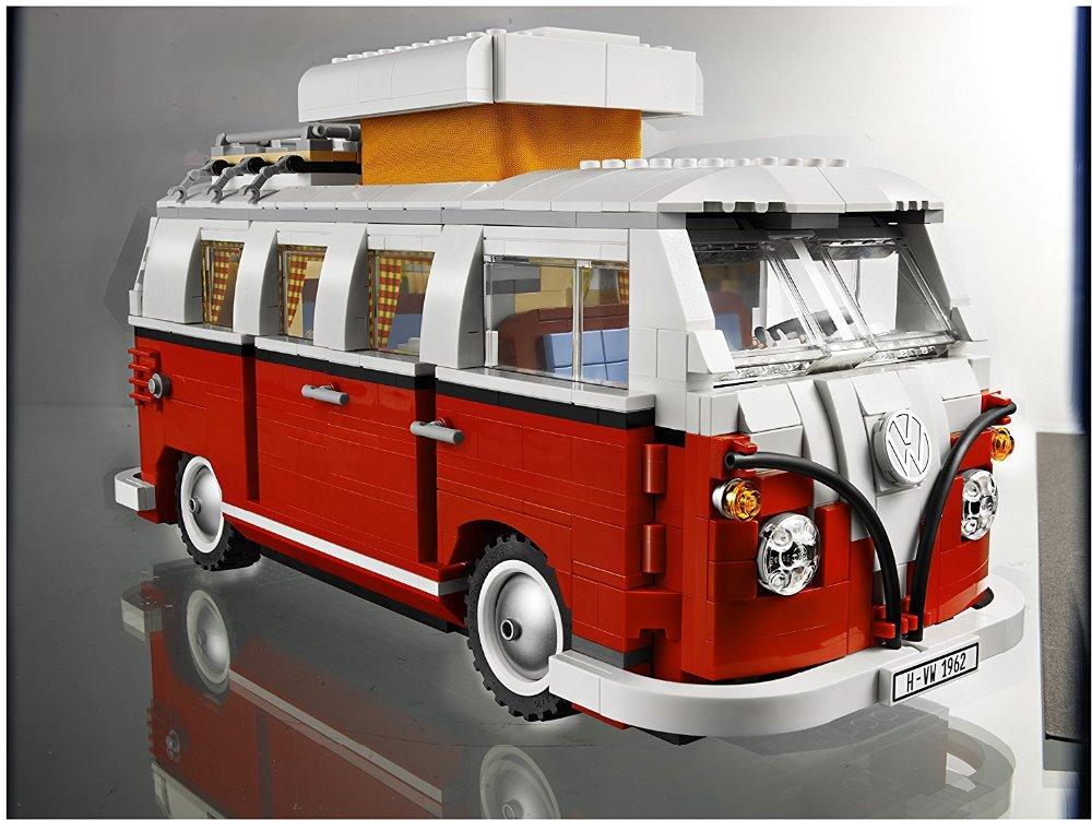 где купить Lepin 21001 Technic Series 1354Pcs Classical T1 Camper Van Model Building Kits Bricks Educational Toys Compatible 10020 по лучшей цене