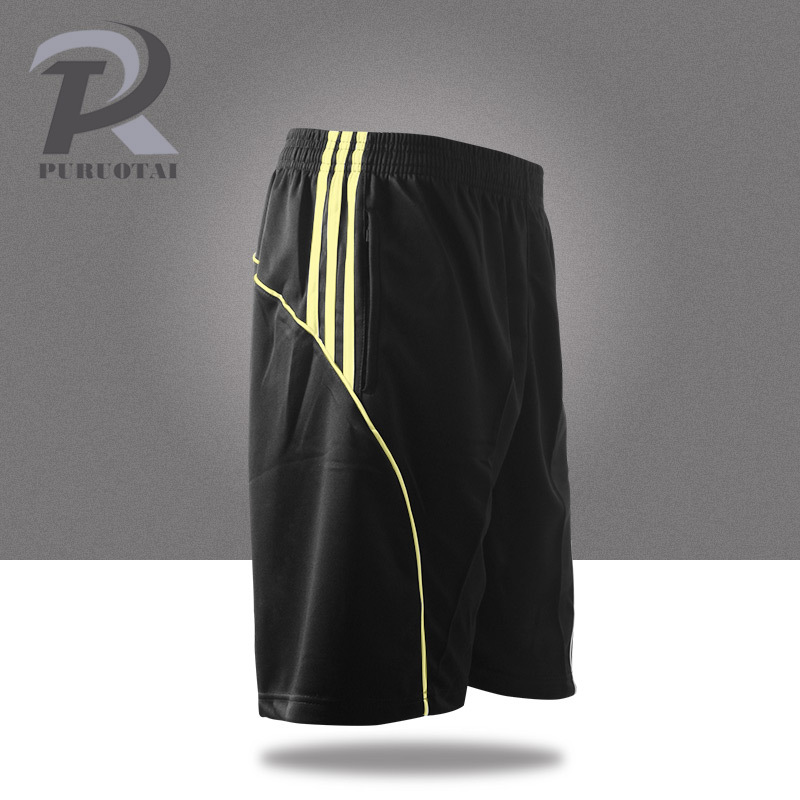 2018 Summer Quick Dry Men's Soccer Shorts With Pockets Sports Training Shorts Men Running Shorts Men Jogging Shorts kids pineapple print tee with rolled hem shorts